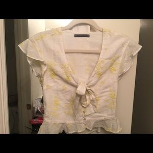 Embroidered Abercrombie and Fitch Blouse